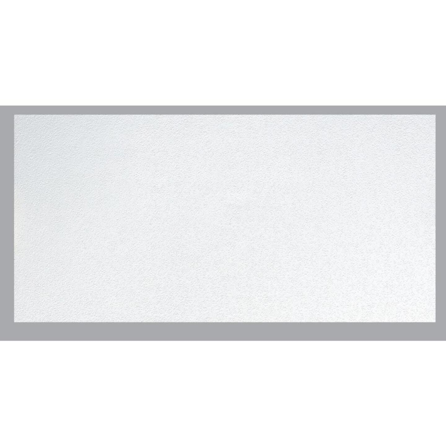 BP LifeStyle Fissured 2 Ft. x 4 Ft. White Wood Fiber Suspended Ceiling Tile (8-Count) Image 1