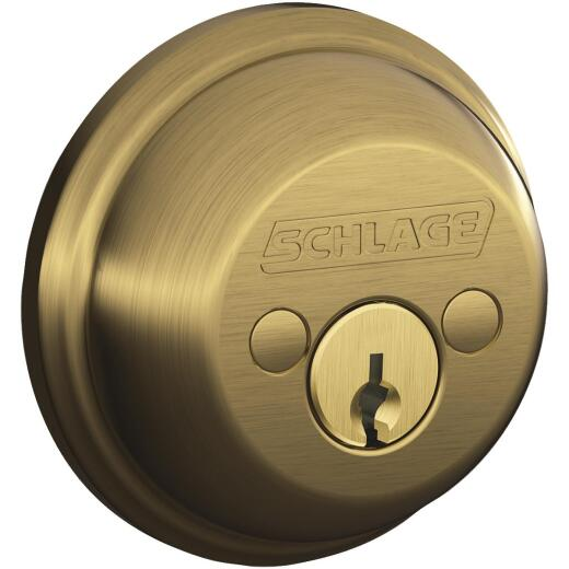 Schlage B-Series Antique Brass Double Cylinder Deadbolt