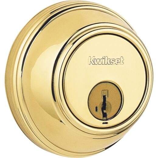 Kwikset Key Control Deadbolt with SmartKey Security Polished Brass Deadbolt