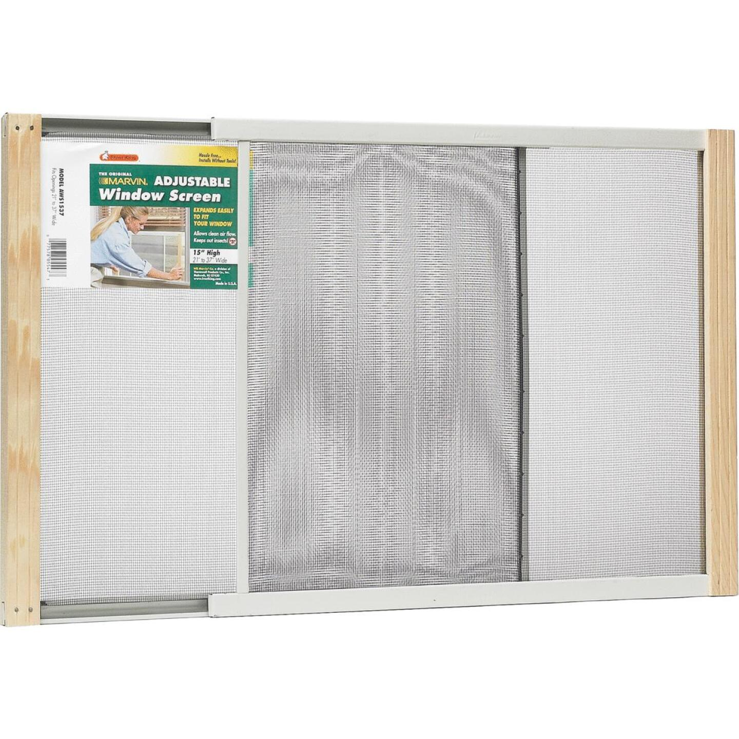 W.B. Marvin 15 In. x 21-37 In. Adjustable Window Screens by Frost King Image 1