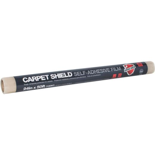Surface Shields Carpet Shield 21 In. x 30 Ft. Self-Adhesive Film Floor Protector