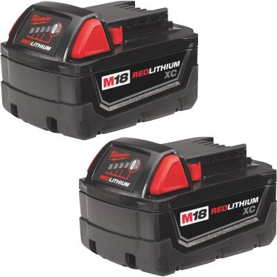 Milwaukee M18 REDLITHIUM XC 18 Volt Lithium-Ion 3.0 Ah Extended Capacity Tool Battery (2-Pack)