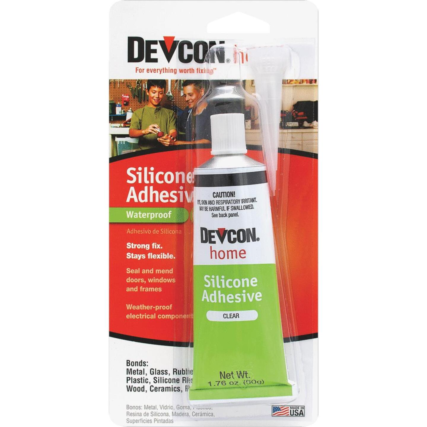 Devcon 1.76 Oz. Clear Silicone Adhesive Image 1