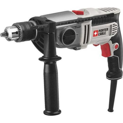 Porter Cable 1/2 In. Keyed 7.0-Amp VSR 2-Speed Electric Hammer Drill