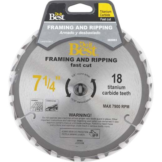 Do it Best Professional 7-1/4 In. 18-Tooth Ripping Circular Saw Blade