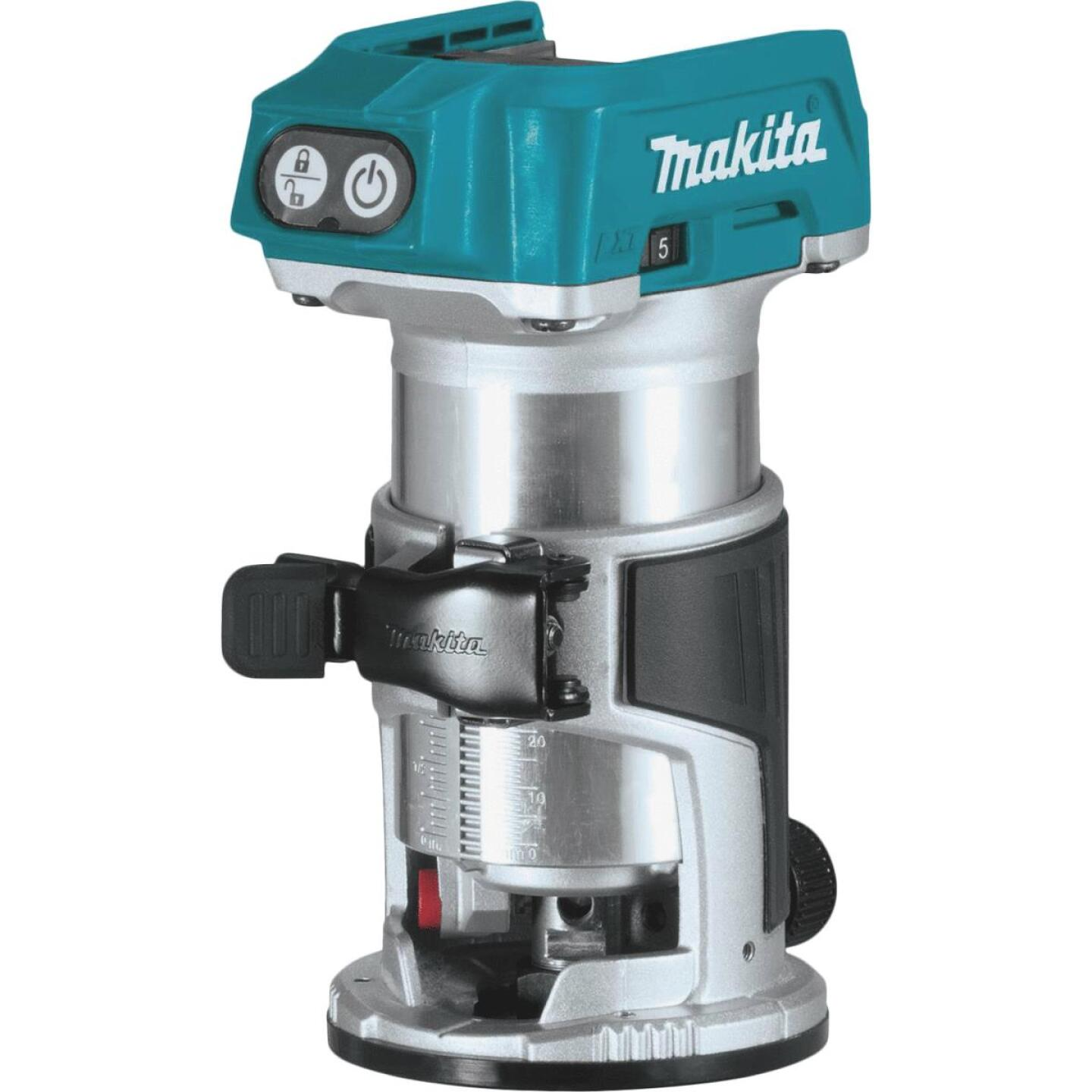 Makita 18 Volt LXT Lithium-Ion Brushless Compact Cordless Router (Bare Tool) Image 1