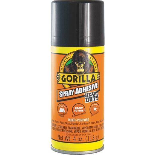 Gorilla 4 Oz. Heavy-Duty Multi-Purpose Spray Adhesive