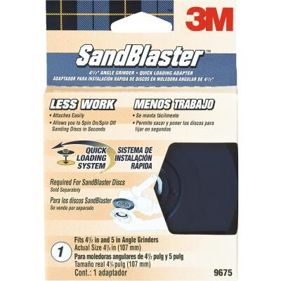 3M Sandblaster 4-1/2 In. Angle Grinder Backing Pad
