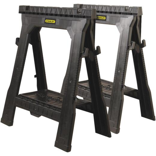 Stanley 27 In. L Plastic Portable Folding Sawhorse (2-Set)