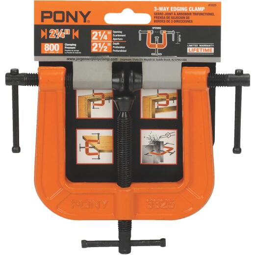 Pony 2-1/4 In. 3-Way Edging Clamp