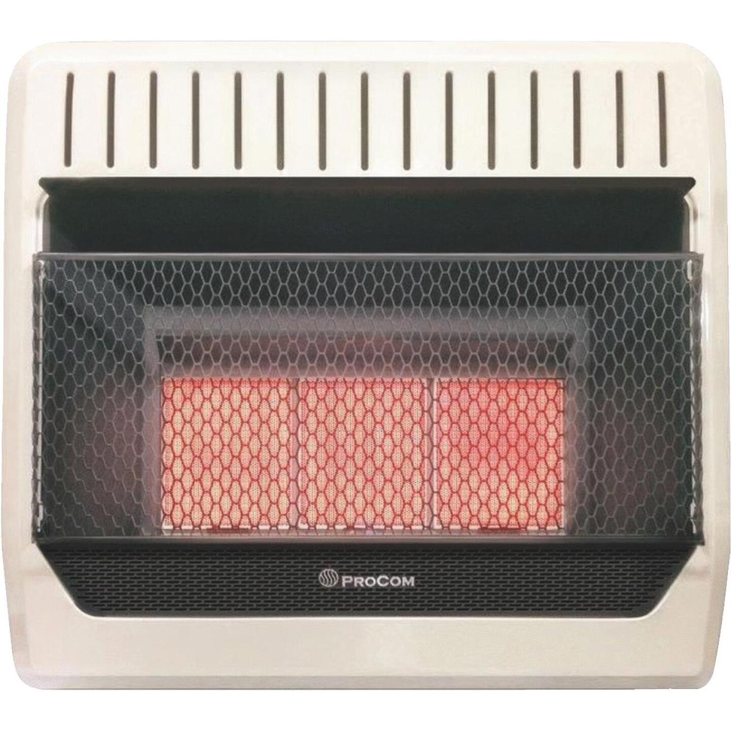 ProCom 28,000 / 30,000 BTU Natural Gas or Propane Gas Vent-Free Infrared Plaque Gas Wall Heater Image 1