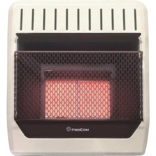 ProCom 18,000 / 20,000 BTU Natural Gas or Propane Gas Vent-Free Infrared Plaque Gas Wall Heater