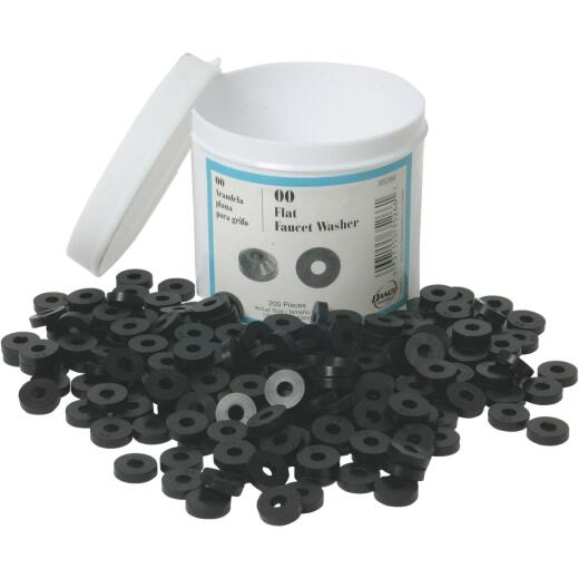 Danco 1/2 In. Black Flat Faucet Washer (200 Ct.)