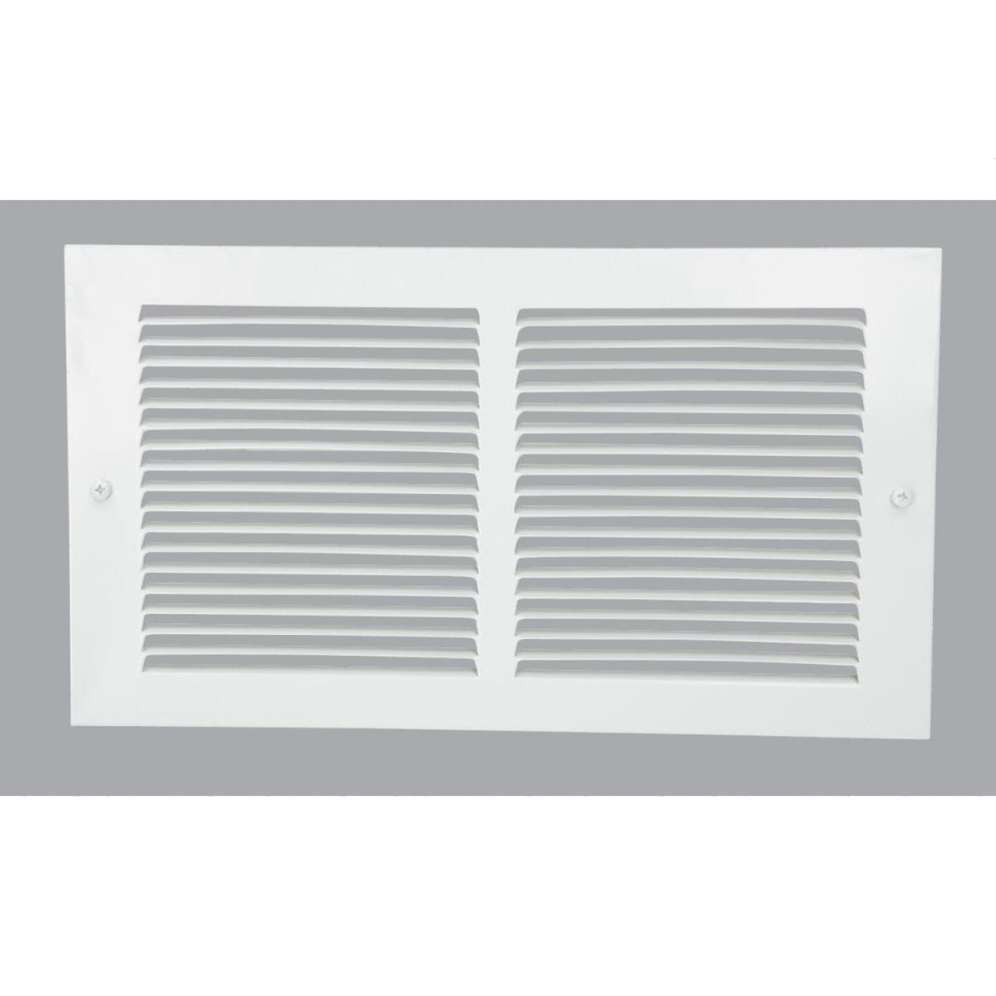 Home Impressions 6 In. x 12 In. White Steel Baseboard Grille Image 1