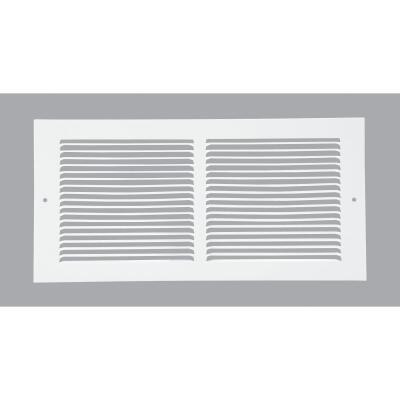 Home Impressions 6 In. x 14 In. White Steel Baseboard Grille