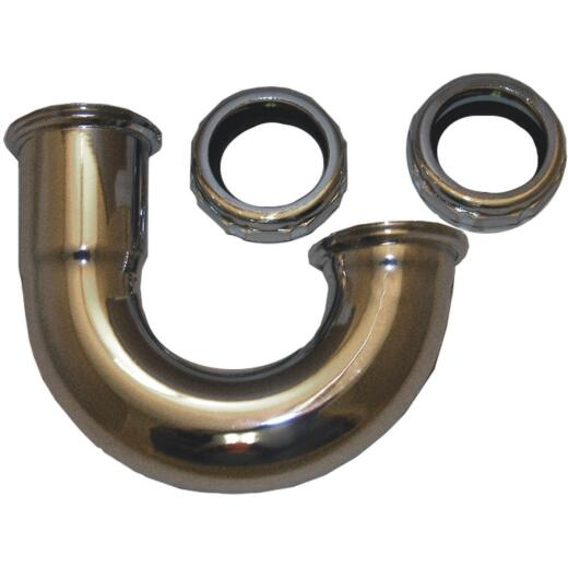 Lasco 1-1/4 In. Chrome Plated J-Bend