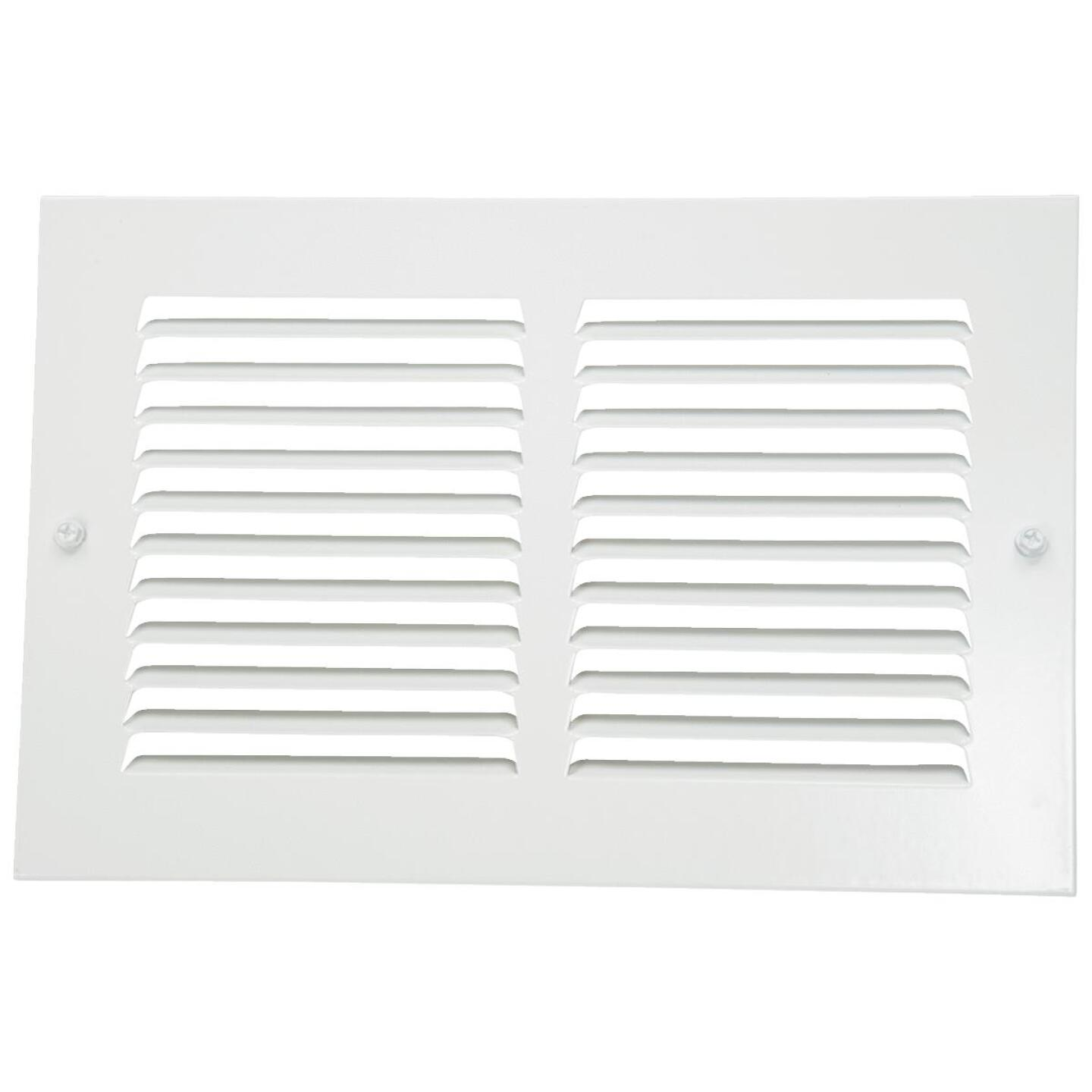 Home Impressions 6 In. x 10 In. Stamped Steel Return Air Grille Image 2