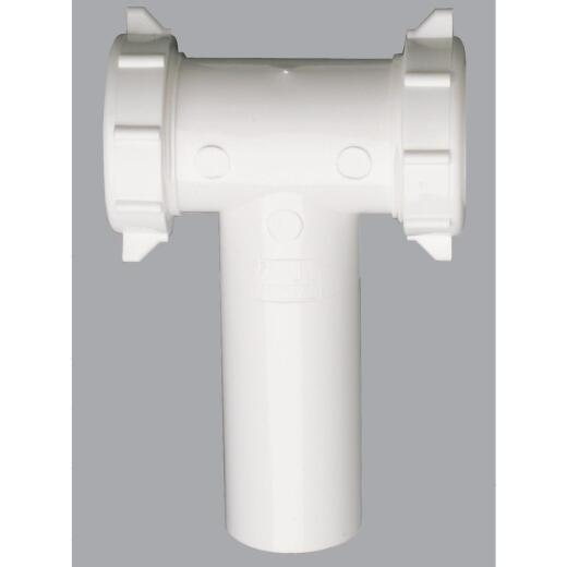 Do it 1-1/2 In. Plastic Slip Joint Center Outlet Tee and Tailpiece