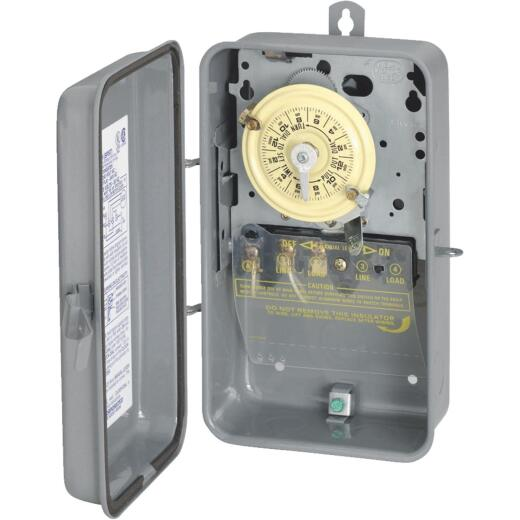 Intermatic 40A 120V 4000W Gray Mechanical Outdoor Timer