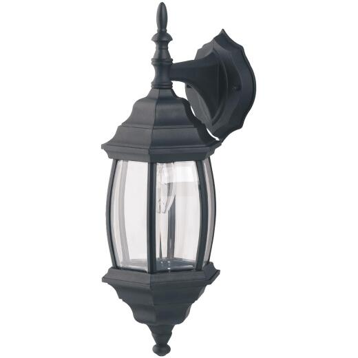 Home Impressions Black Incandescent Type A or B Outdoor Wall Light Fixture (2-Pack)