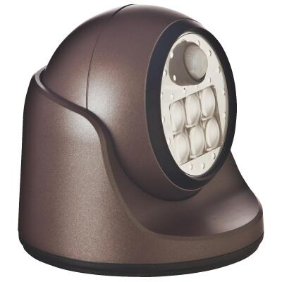 Light It Bronze 100 Lm. LED Battery Operated Security Light Fixture