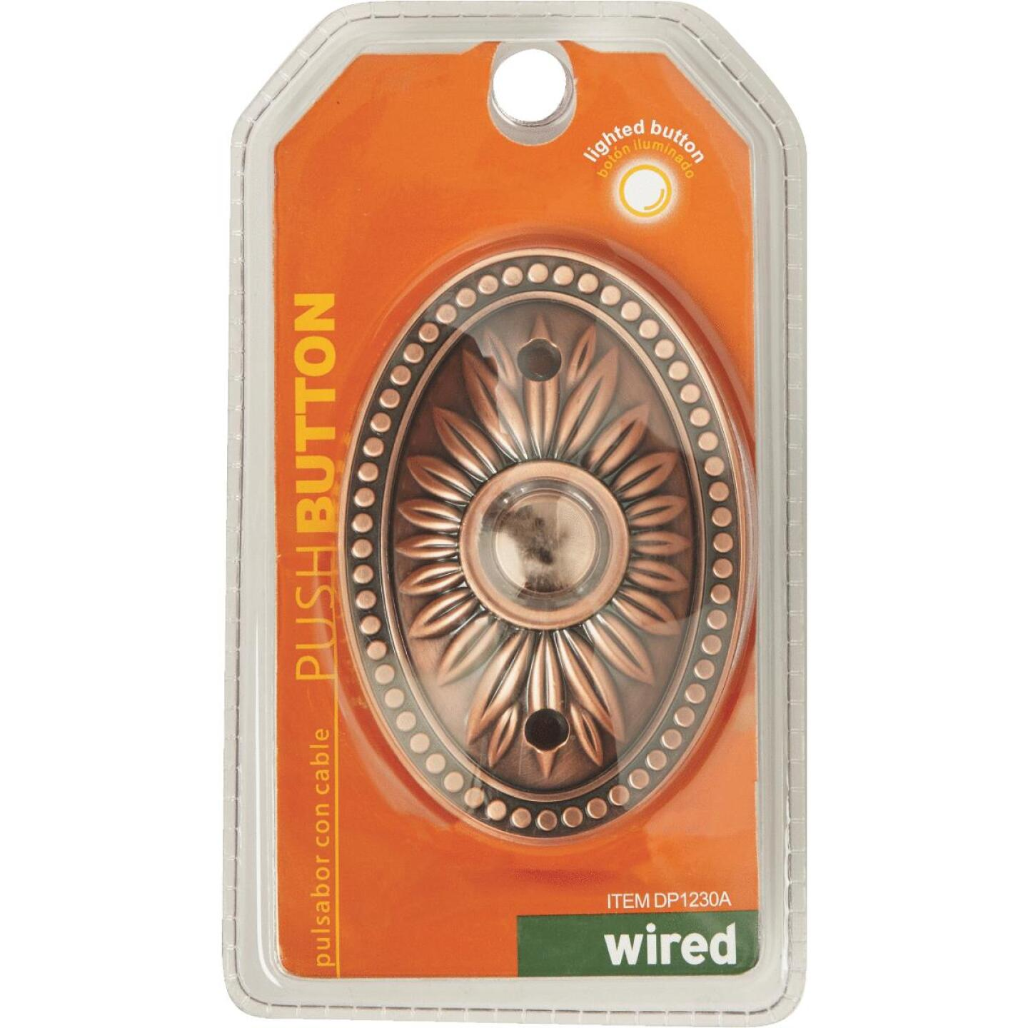 IQ America Wired Bronze Lighted Doorbell Button Image 2