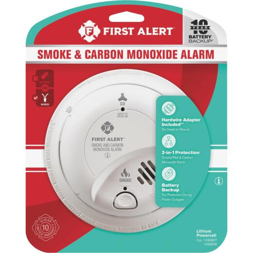First Alert Hardwired 120V Electrochemical/Ionization Carbon Monoxide and Smoke Alarm