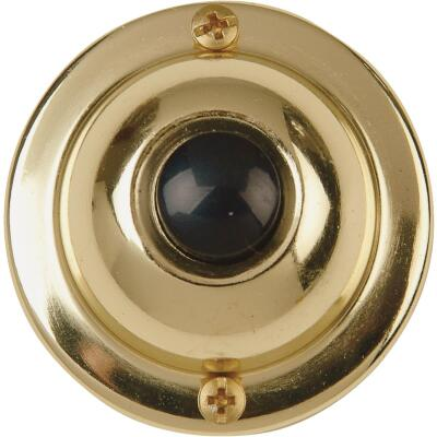 IQ America Wired Brass Classic Doorbell Push-Button