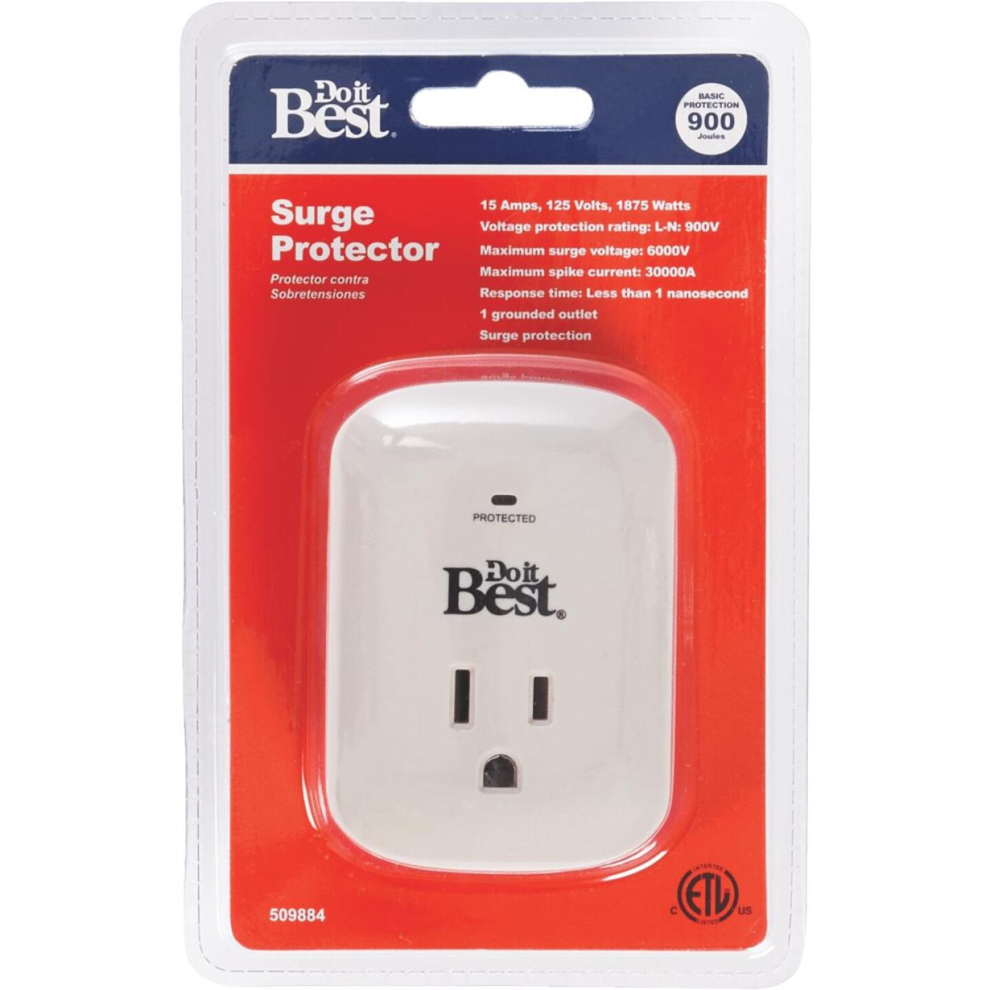 Do it Best 1-Outlet 15A Gray Surge Tap Image 1