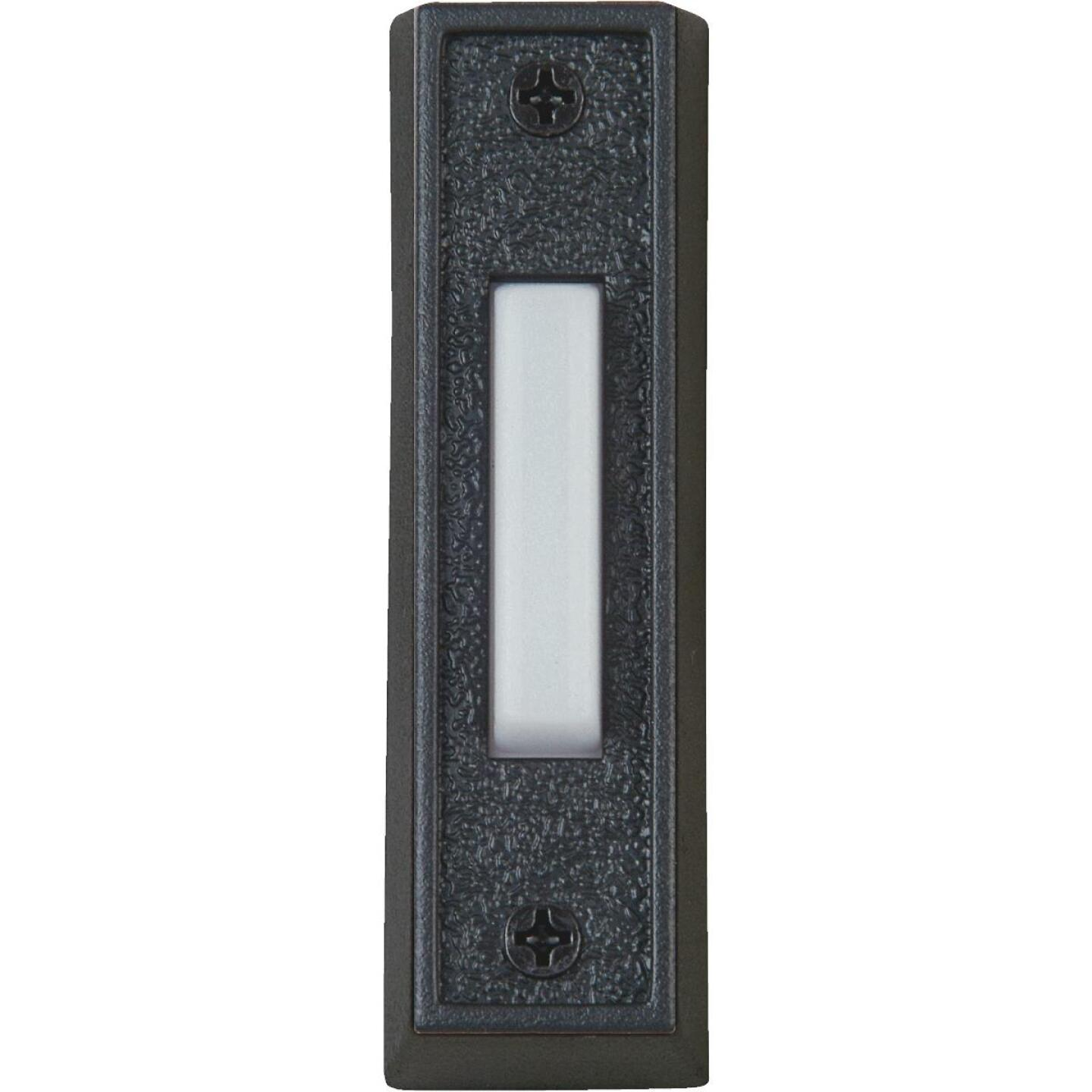 IQ America Wired Black Plastic Lighted Doorbell Push-Button Image 1