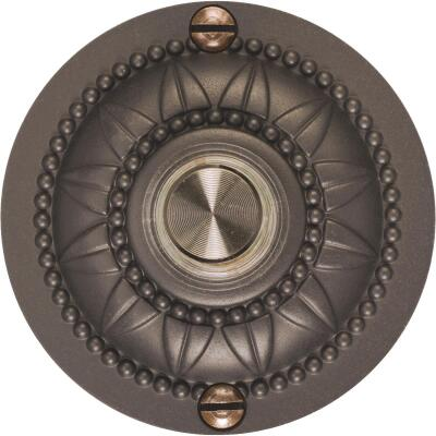 IQ America Wired Oil Rubbed Bronze Medallion Design Lighted Doorbell Push-Button