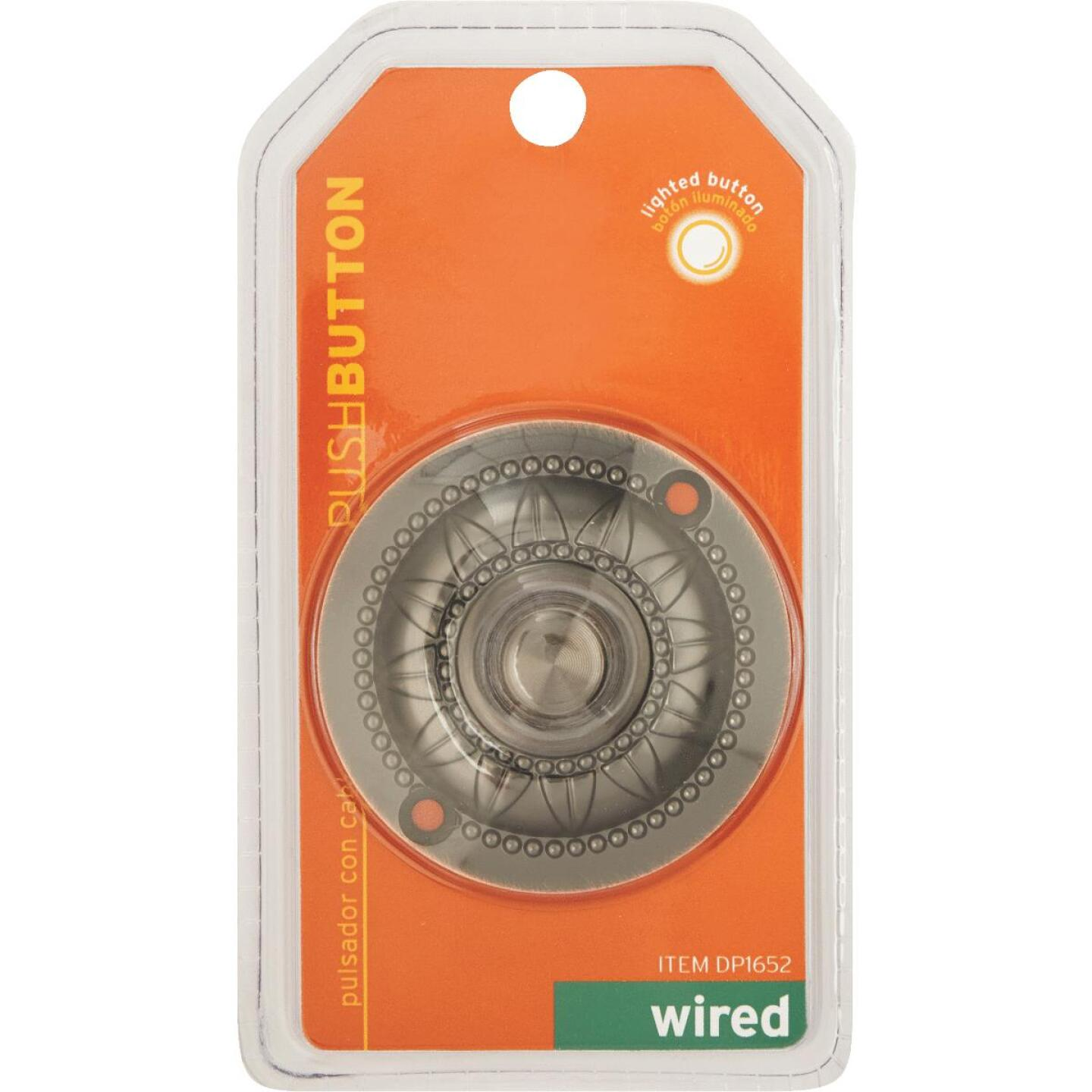 IQ America Wired Oil Rubbed Bronze Medallion Design Lighted Doorbell Push-Button Image 2