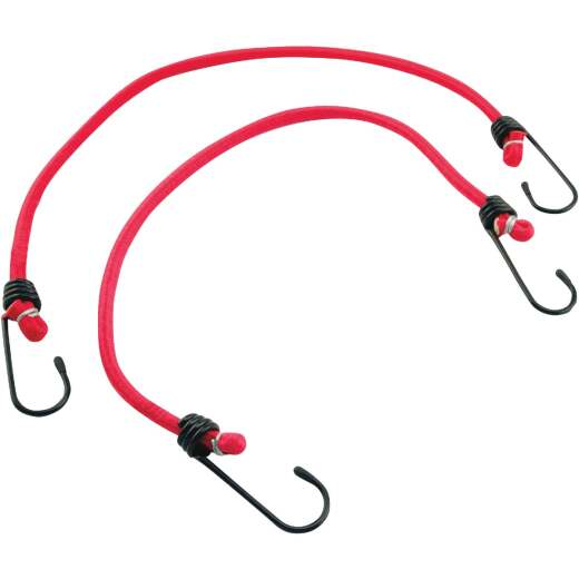 "Erickson 8mm x 13"" Vinyl Coated Steel Bungee Cord Set (2-Pack)"