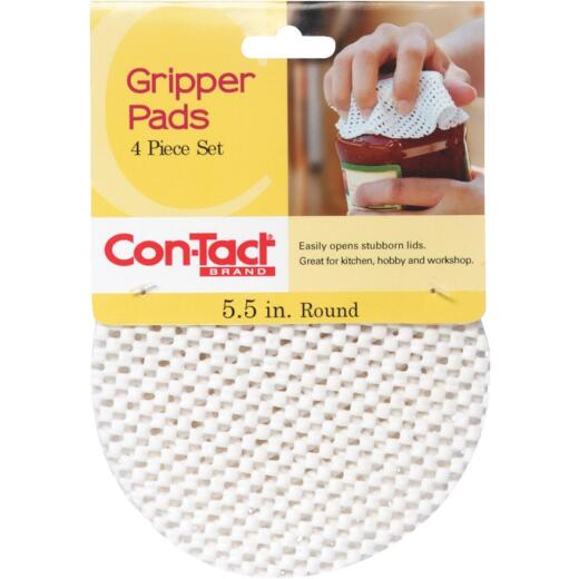 Con-Tact 5-1/2 In. Dia. White Gripper Pad (4 Count)