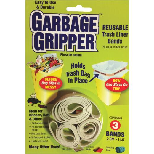 Garbage Gripper Garbage Bag Holder Band (3 Pack)