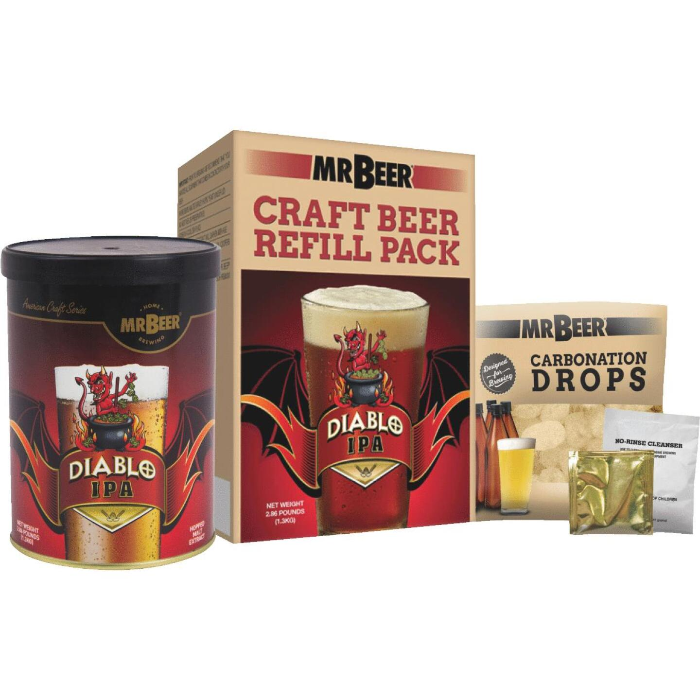 Mr. Beer Diablo IPA Beer Brewing Kit Refill (3-Piece) Image 1