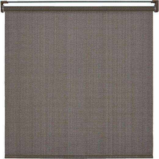Home Impressions 72 In. x 72 In. Brown Fabric Indoor/Outdoor Cordless Roller Shade