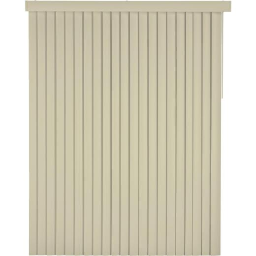 Home Impressions 78 In. x 84 In. x 3.5 In. Vanilla Vinyl Light Filtering Vertical Cordless Blind