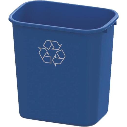 Impact 28 Qt. Blue Plastic Recycle Wastebasket