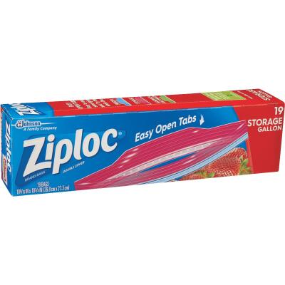 Ziploc 1Gal. Double Zipper Food Storage Bag (19 Count)