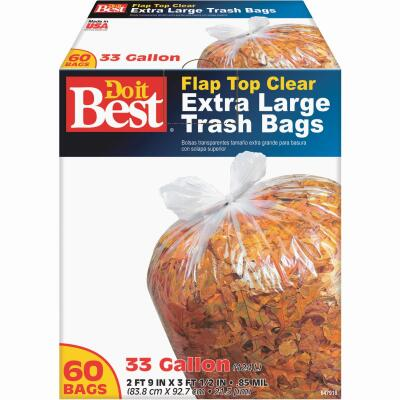 Do it Best 33 Gal. Extra Large Clear Trash Bag (60-Count)