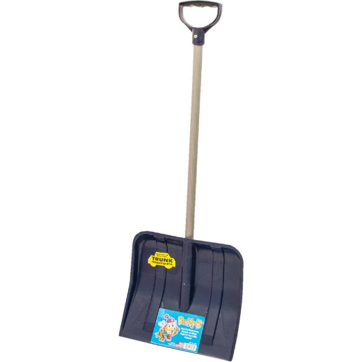 Buddy B 12 In. Poly Childrens Snow Shovel with 24 In. Poly Handle