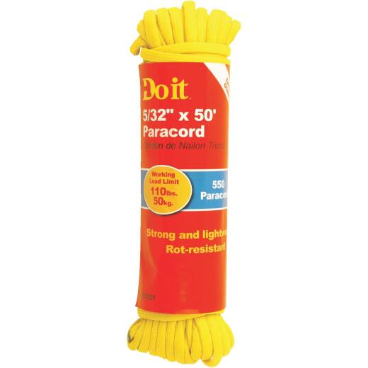 Do it 550 5/32 In. x 50 Ft. Yellow Nylon Paracord