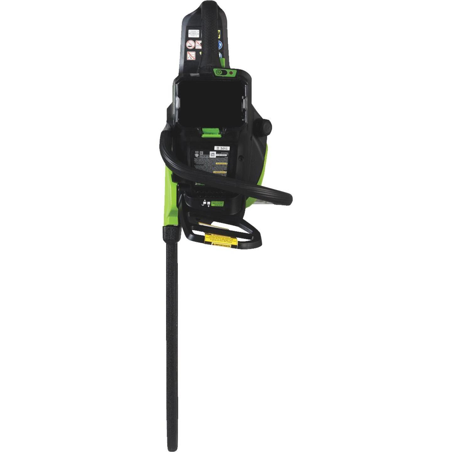 Greenworks Pro 18 In. 80V Lithium Ion Brushless Cordless Chainsaw Image 3