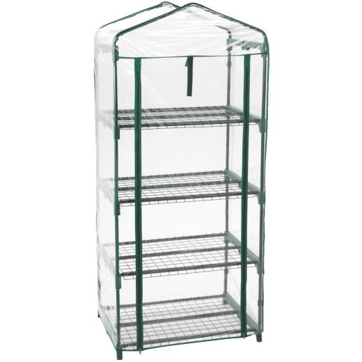 Best Garden 27 In. W. x 63 In. H. x 19 In. D. 4-Shelf Greenhouse