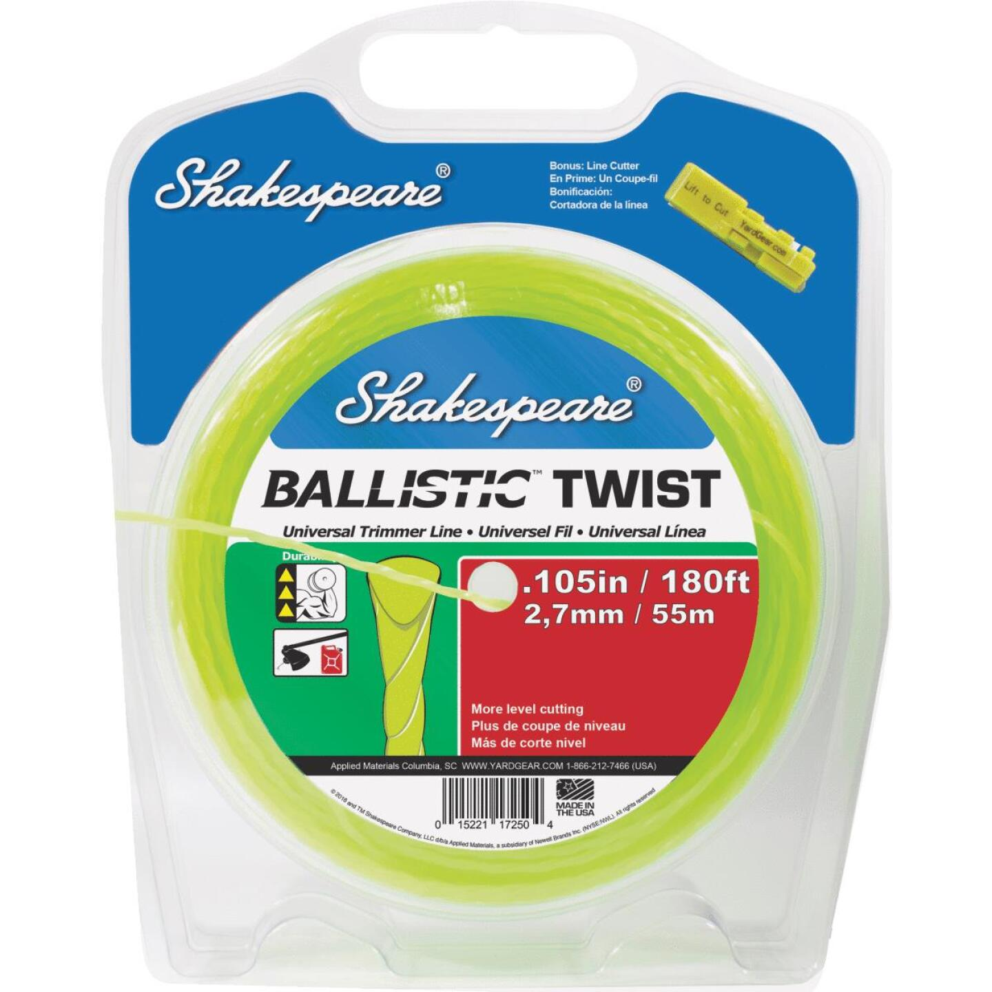 Shakespeare 0.105 In. x 180 Ft. Ballistic Twist Universal Trimmer Line Image 1