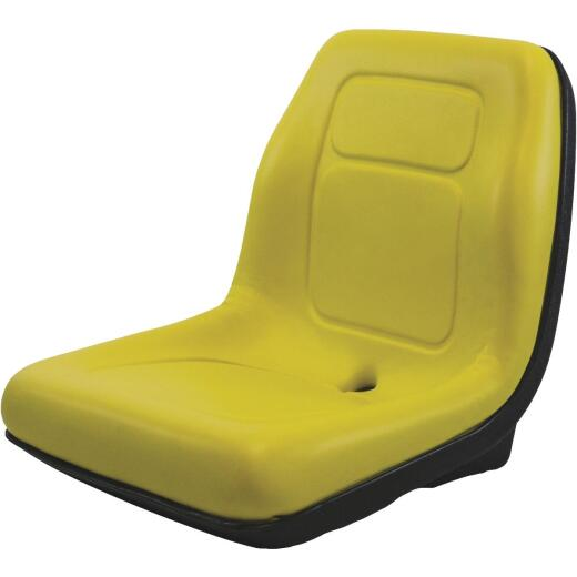 Concentric International Black Talon Ultra-High Back Gator Style Yellow Mower Seat
