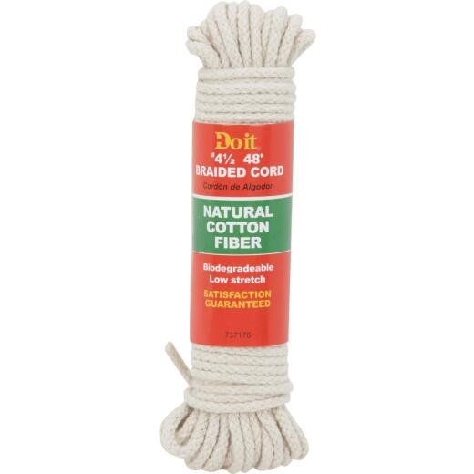 Do it 9/64 In. x 48 Ft. Natural Braided Cotton Cord