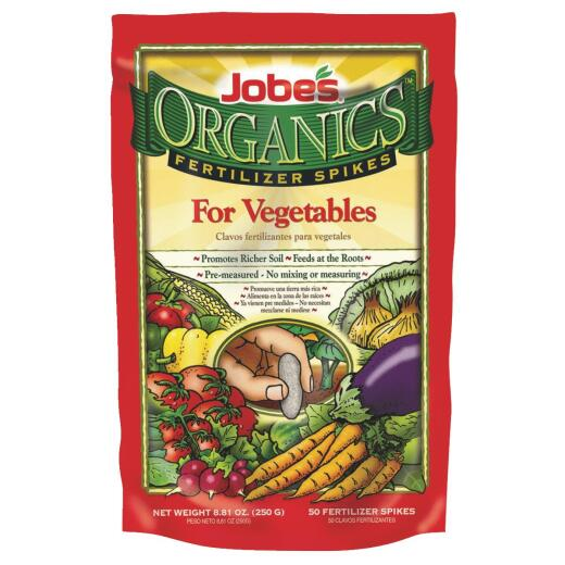 Jobe's Organic 2-7-4 Vegetable Fertilizer Spikes (50-Pack)