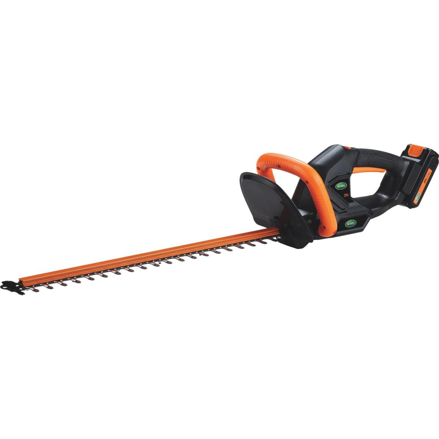Scotts 22 In. 20V Lithium Ion Cordless Hedge Trimmer Image 1
